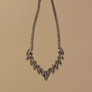 🤩 Used formal marquee rhinestone necklace.